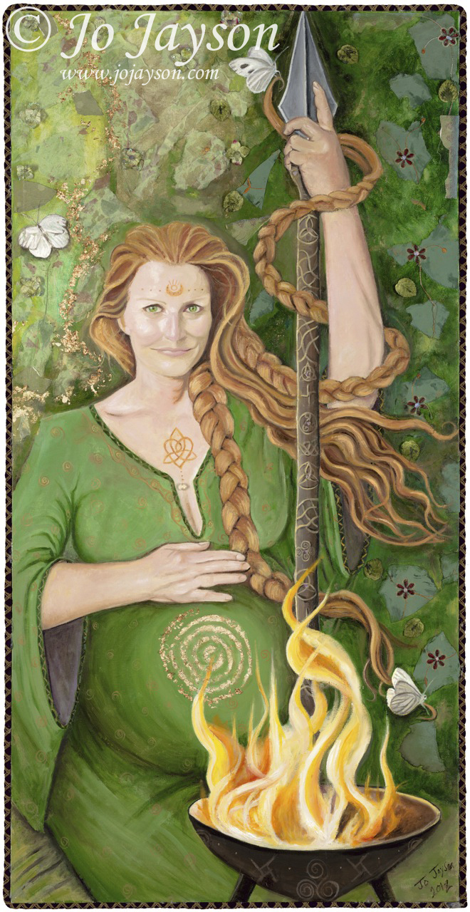 """Brighid Morther Goddess of Ireland"" by Jo Jayson"